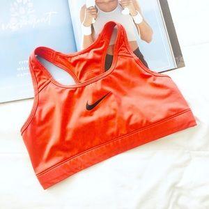Nike Orange Sport Bra Size Medium